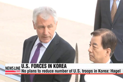 Hagel: U.S. has no plan to cut American troop levels in S. Korea