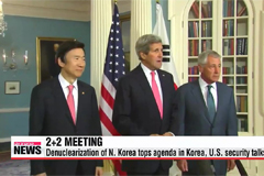 Korea, U.S. press N. Korea to denuclearize in 2+2 meeting