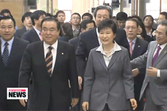President Park urges swift passage of reform bills and next year's budget
