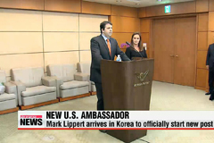 New U.S. Ambassador to Seoul Mark Lippert arrives in Korea