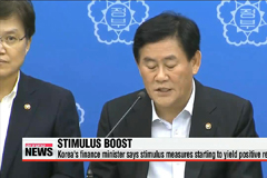 Korea's finance minister says stimulus measures starting to bear fruit