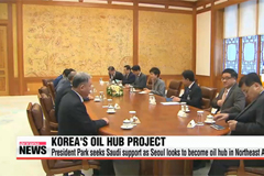 President Park seeks Saudi support for Seoul's oil hub project