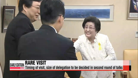 Former first lady's trip to Pyongyang approved, timing to be discussed in 2nd round of talks