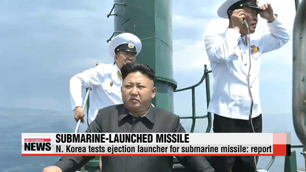 N. Korea tests ejection launcher for submarine missile: report
