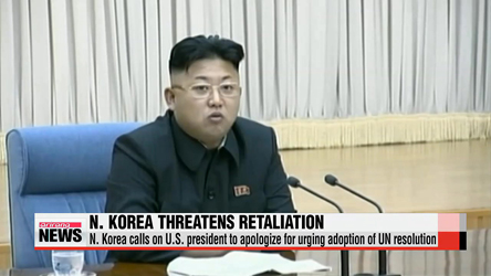 North Korea threatens to retaliate over last week's UN resolution