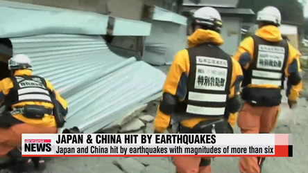 Japan and China cope with impact of Saturday's earthquakes