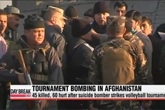 45 killed after suicide bomber strikes volleyball tournament