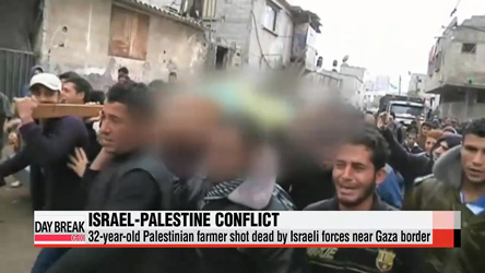 Palestinian farmer shot dead by Israeli forces in first fatality since Gaza truce