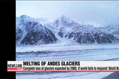 Almost complete loss of glaciers in the Andes expected by 2080