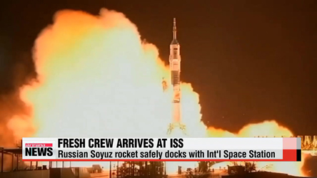 Fresh crew docks with Int'l Space Station