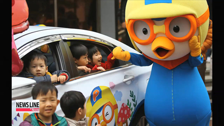 """Pororo taxis"" take on Seoul streets, joining ""Tayo buses,"" ""Larva train"""
