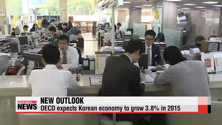 OECD sets 2015 growth outlook for Korea at 3.8%
