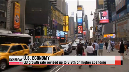 U.S. revises up Q3 economic growth to 3.9%