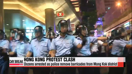 80 arrested as Hong Kong police remove barricades at Mong Kok protest site
