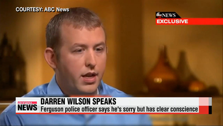Darren Wilson tells ABC News his 'conscience is clear'