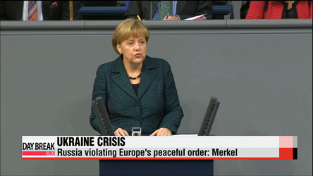 Russia violating Europe's peaceful order: Merkel