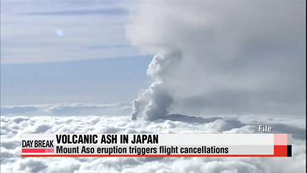 Japan's Mount Aso eruption triggers flight cancellations