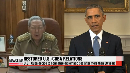 U.S., Cuba restore diplomatic ties after more than 50 years of hostility