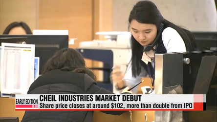 Cheil Industries stock price doubles in market debut