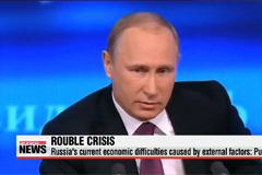 Russia's economic difficulties caused by external factors: Putin