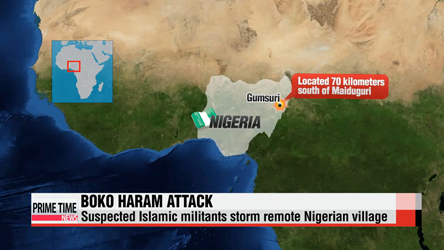 Suspected Islamic militants storm remote Nigerian village