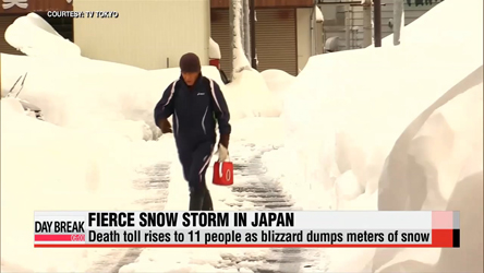 Death toll from Japan snowstorm rises to 11