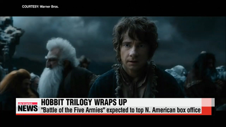 Last chapter of Hobbit trilogy expected to top box office