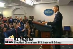 Obama bans U.S. trade with Crimea