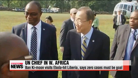 UN chief visits Ebola-hit West Africa, says zero cases must be everyone's goal