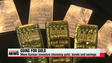 Koreans expand investment in gold and bonds