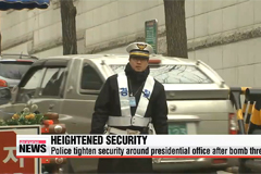 Police in Korea tighten security around presidential office after bomb threat