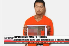 Japanese PM slams IS militants for execution, demands release of remaining hostage