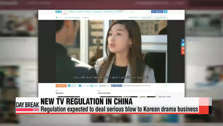 Korean TV series to suffer blow over China's media regulation