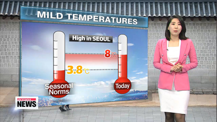 Mild day today, Gets chilly again