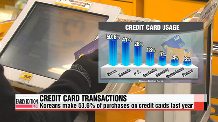 Koreans make 51% of purchases on credit cards