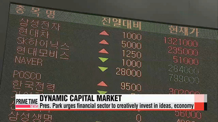 Pres. Park urges financial sector to create dynamic capital market through new ideas