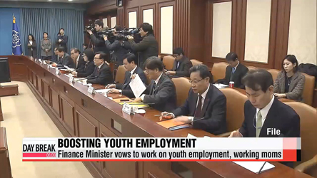 Finance Minister Choi Kyung-hwan vows to help young people, mothers find work