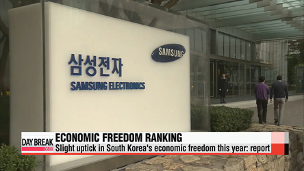 Slight uptick in South Korea's economic freedom this year: report