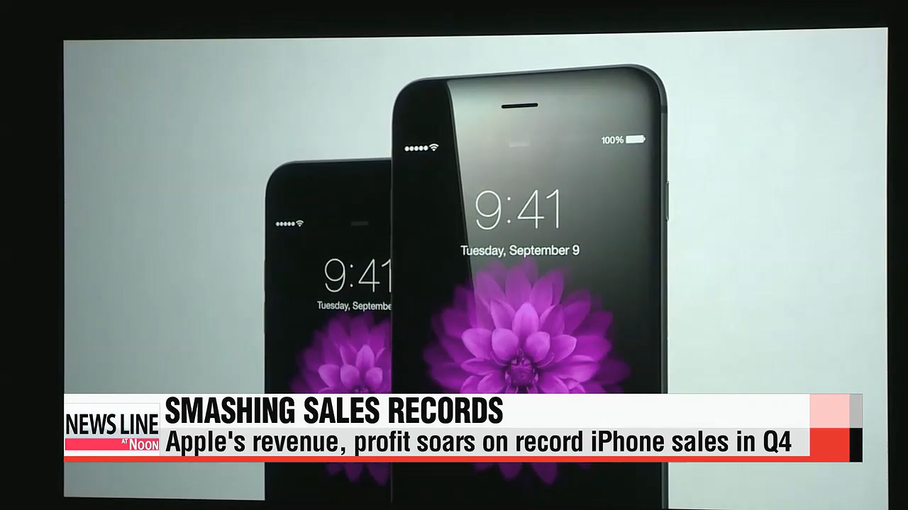 Apple posts record sales of iPhone units in Q4