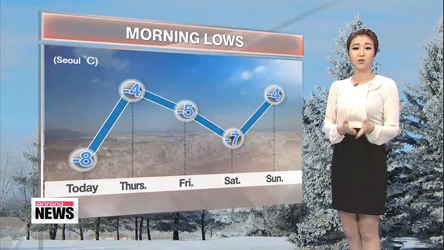 Clear skies with cold spell across the country
