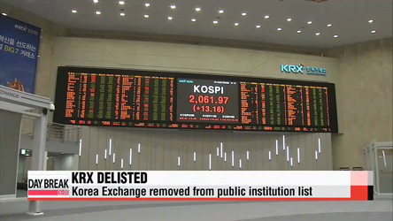 Korea's main stock exchange delisted as public institution
