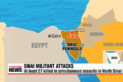 At least 27 killed in simultaneous assaults in North Sinai