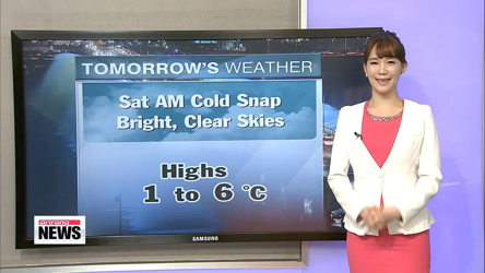 Cold snap expected Saturday morning