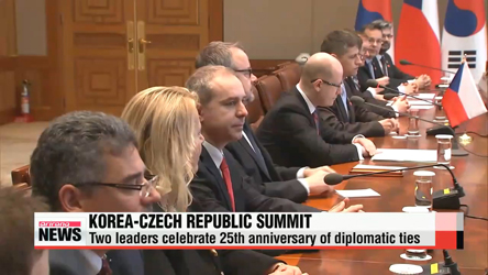 Leaders of Korea, Czech Republic elevate bilateral relations to strategic partnership