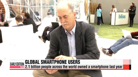Global smartphone users exceeded 2 billion-mark for the first time last year