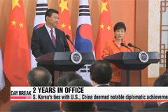 President Park enters 3rd year in office: foreign policy