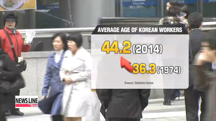 Average age of Korean workers becomes older and older