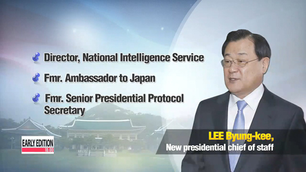 Head of Korea's spy agency named new presidential chief of staff