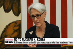N. Korea's attempt to steadily gain acceptance as nuke state won't work: Sherman