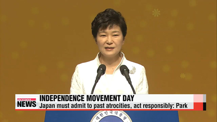 President Park urges Japan to admit to past atrocities, North Korea to engage in dialogue